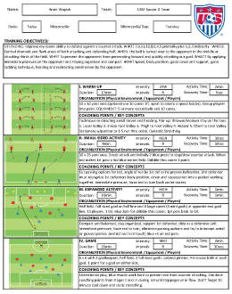 USSF License D Coaching Course Notes - Brant Wojack