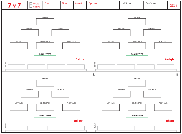 Soccer Formations and Systems as Lineup Sheet Templates Brant Wojack – 3-2-1 Worksheet