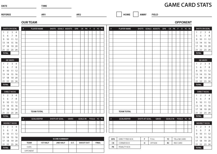 Soccer Game Statistics Sheet - image 2