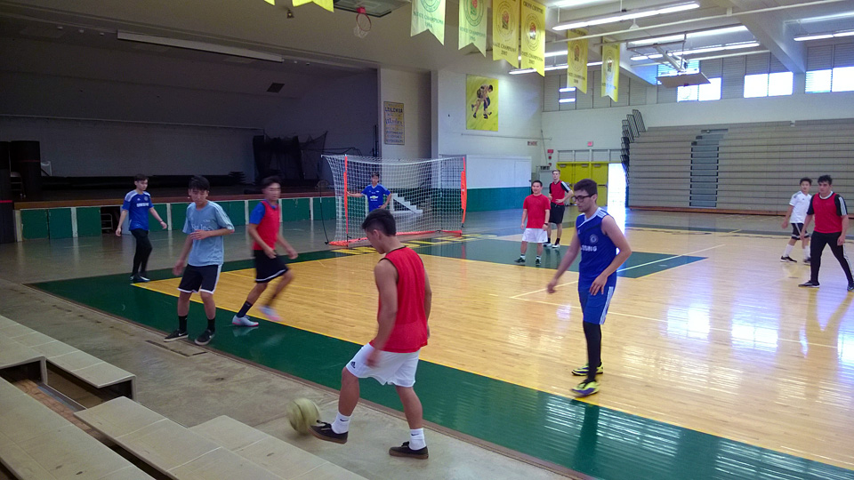 futsal indoor soccer at leilehua high school gym