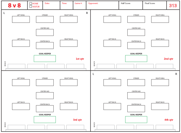 soccer formations and systems as lineup sheet templates brant wojack