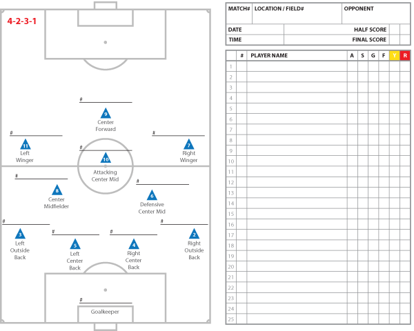soccer team positions template images template design ideas